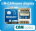LM-CANopen® display load weighing control unit by MICELECT