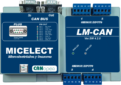 LM-CANopen load weighing controller for elevators and lifts by MICELECT