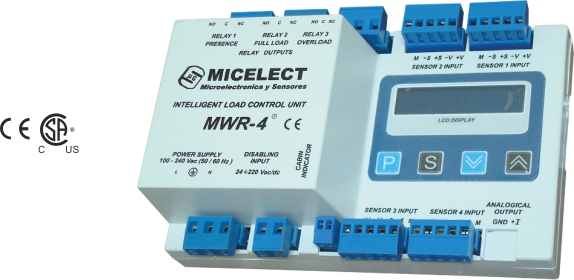 MWR-4 load weighing controller for elevators and lifts by MICELECT